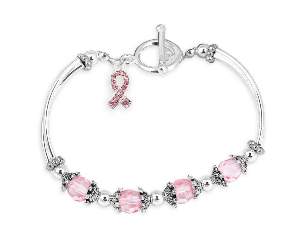 cancer breast bracelets crystal