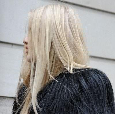 vanilla blonde hair