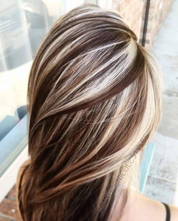 brown with blonde
