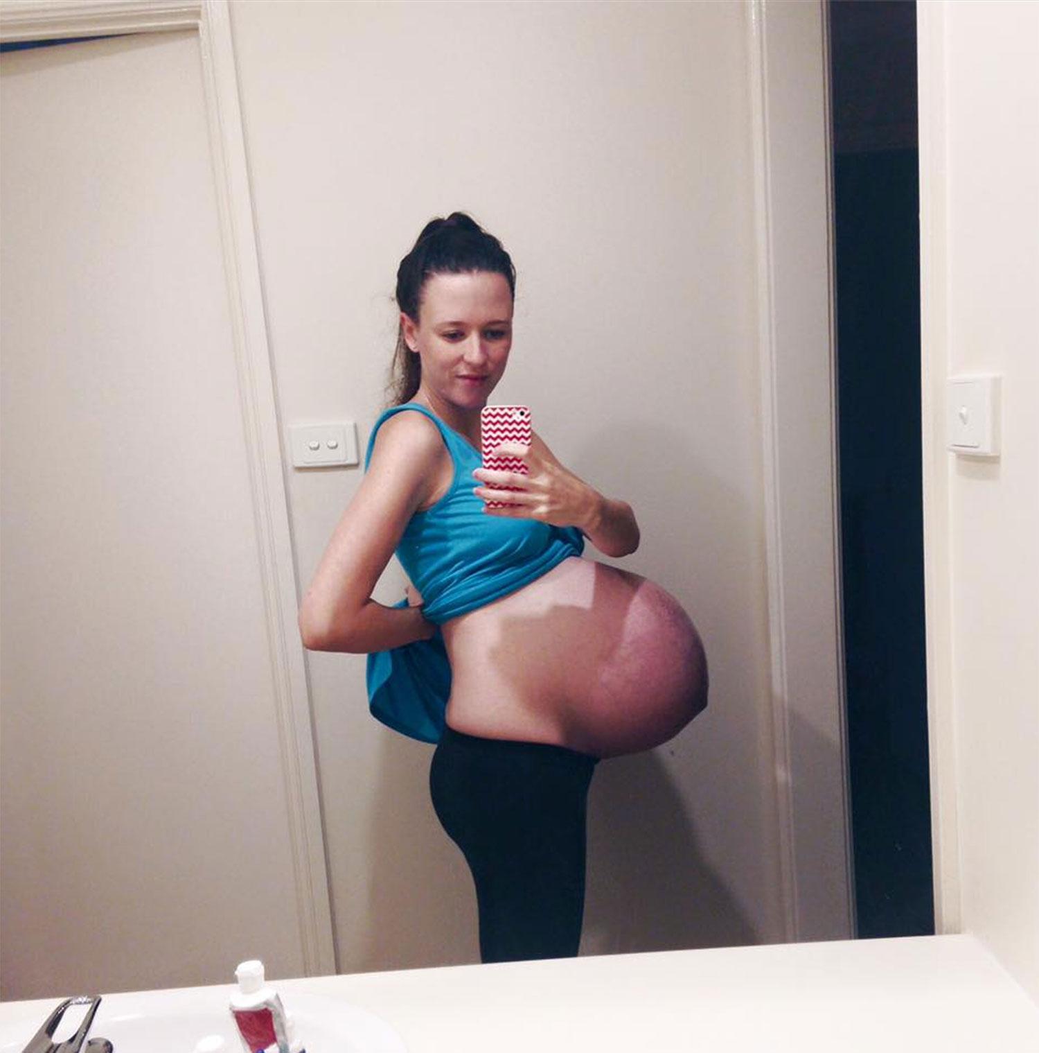 fetish pregnant belly