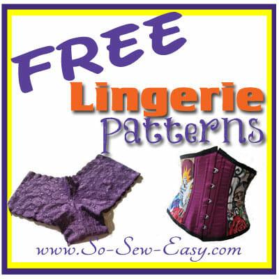 pattern lingerie free