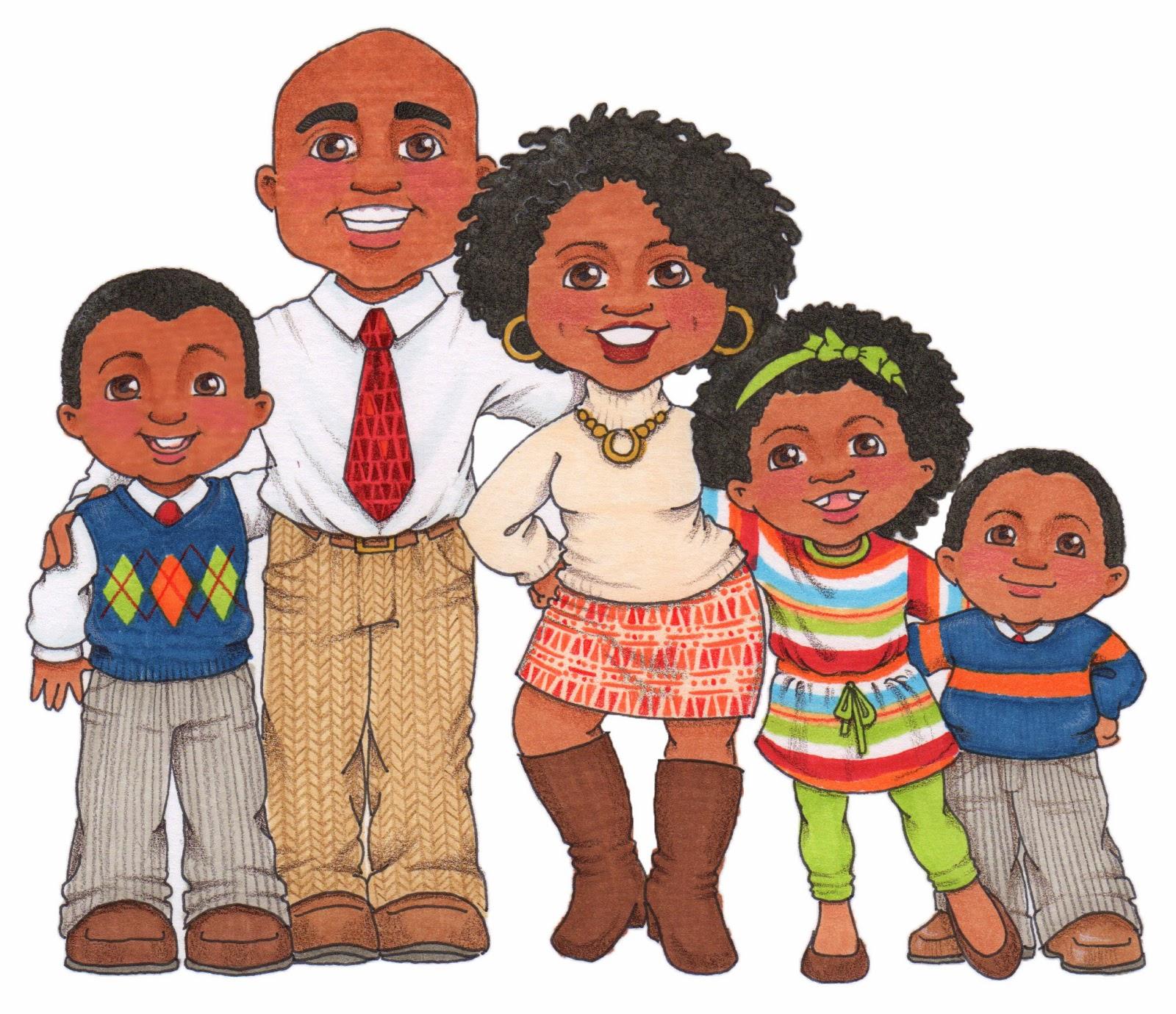 cartoon black family