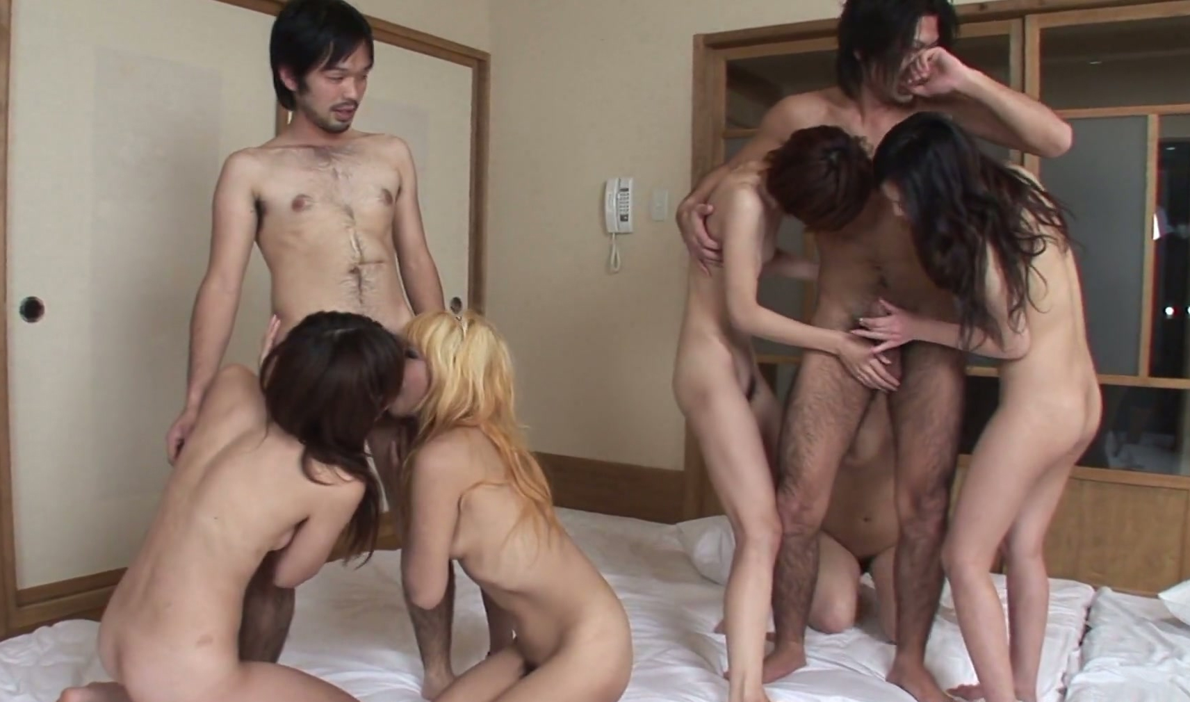 anal blonde threesome creampie asian eat