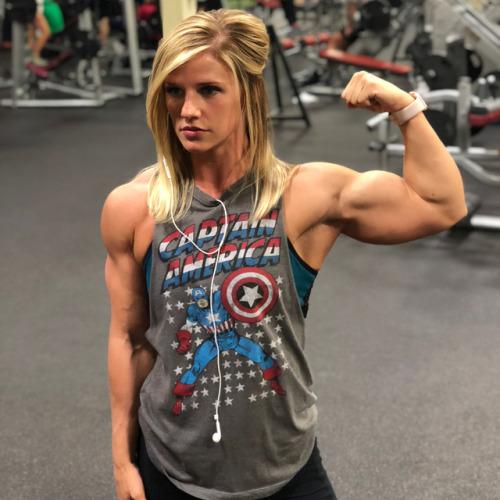 woman blonde muscle