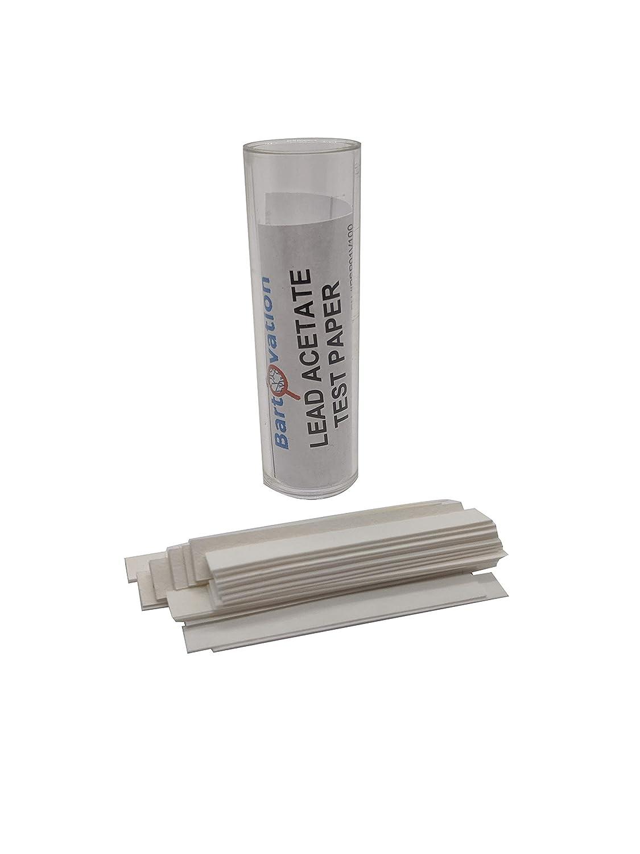 acetate lead test hydrogen strips