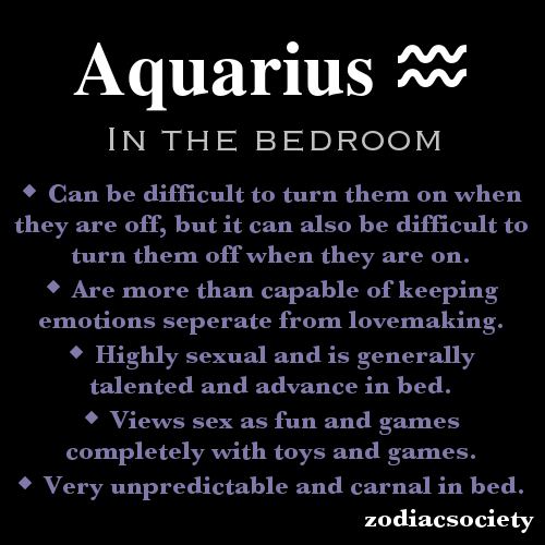 woman the aquarius in bed