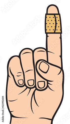 bandage cartoon thumb