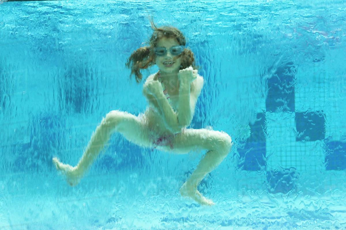 girls swimming underwater naked