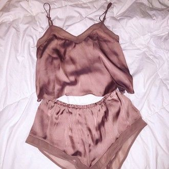 lingerie silk short set