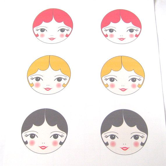 doll faces with