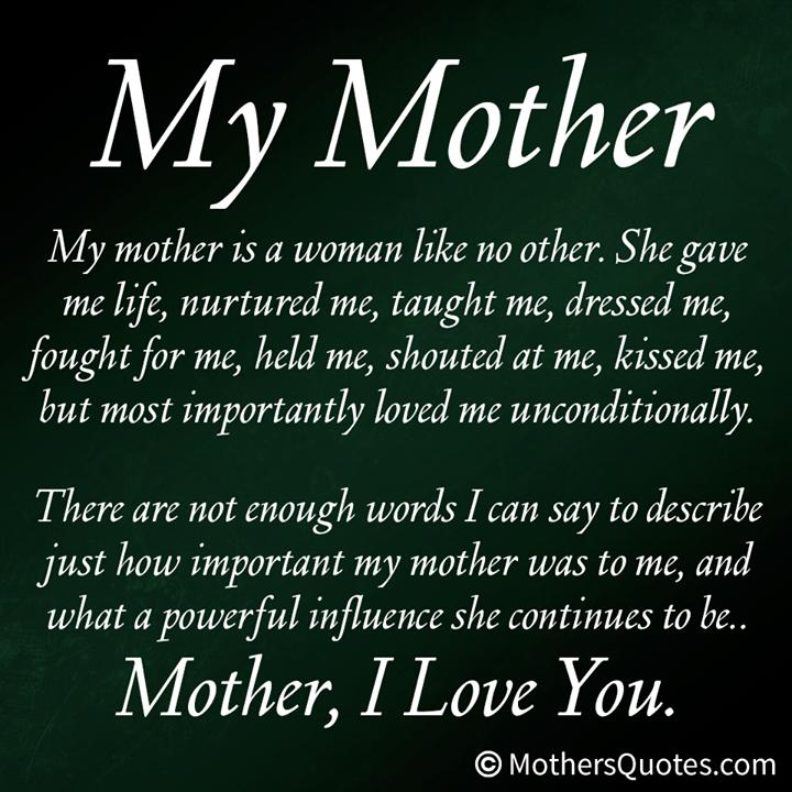 my mum mom