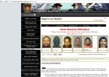 law offender website sex megans