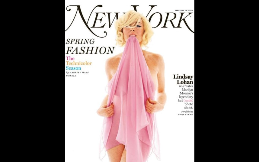 new magazine yorker nude lohan lindsey in