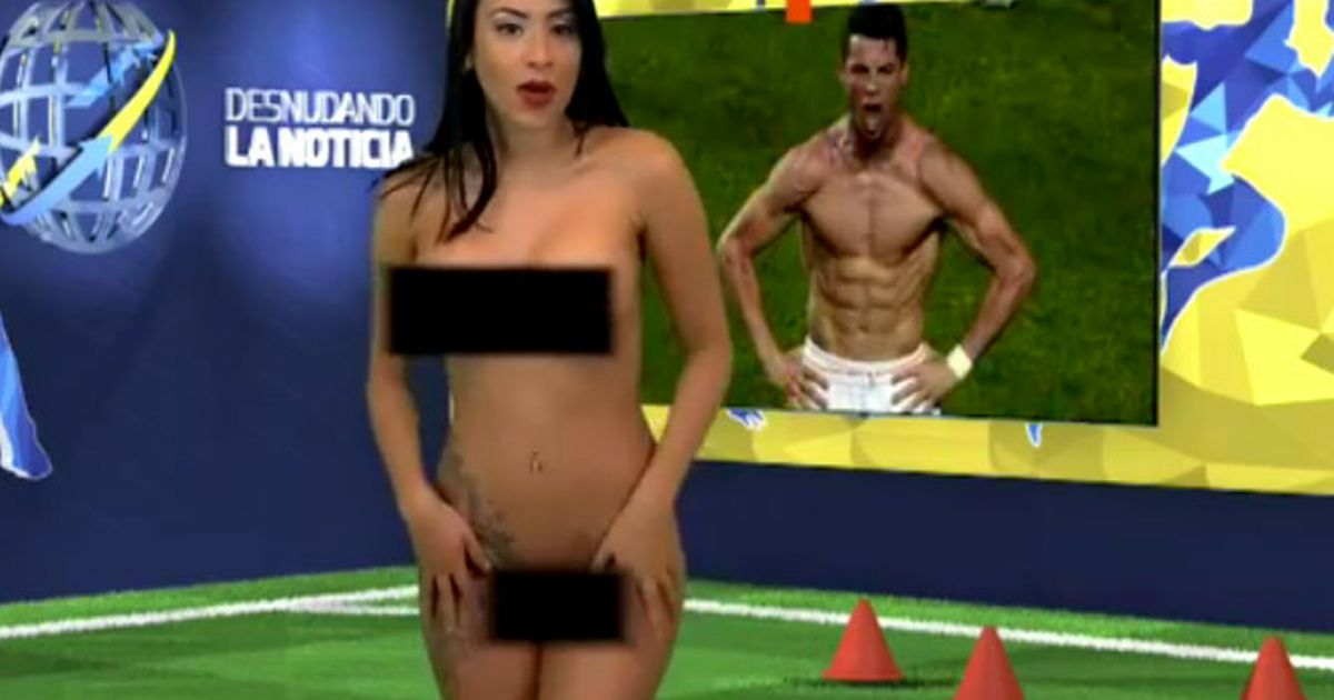 reporter strips sexy