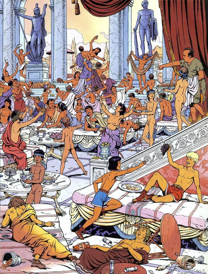cartoon roman orgy