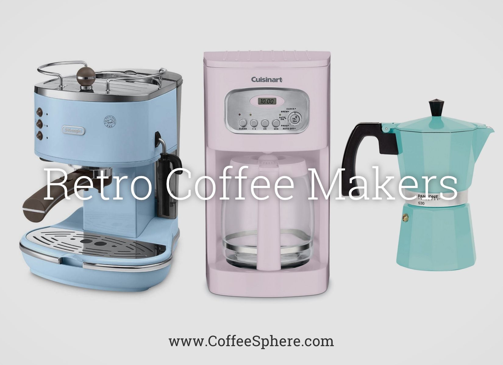 colored coffee vintage makers