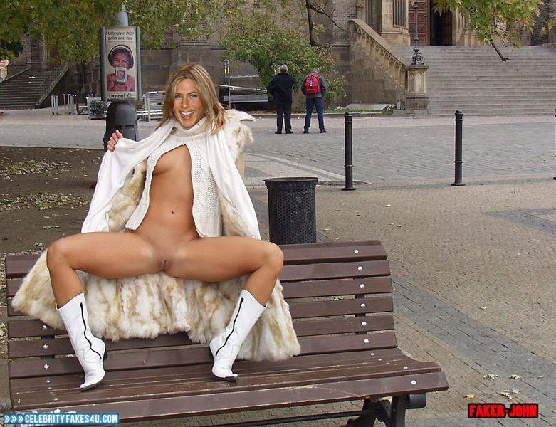 spreading pussy in public