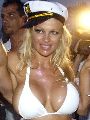 breast pam anderson