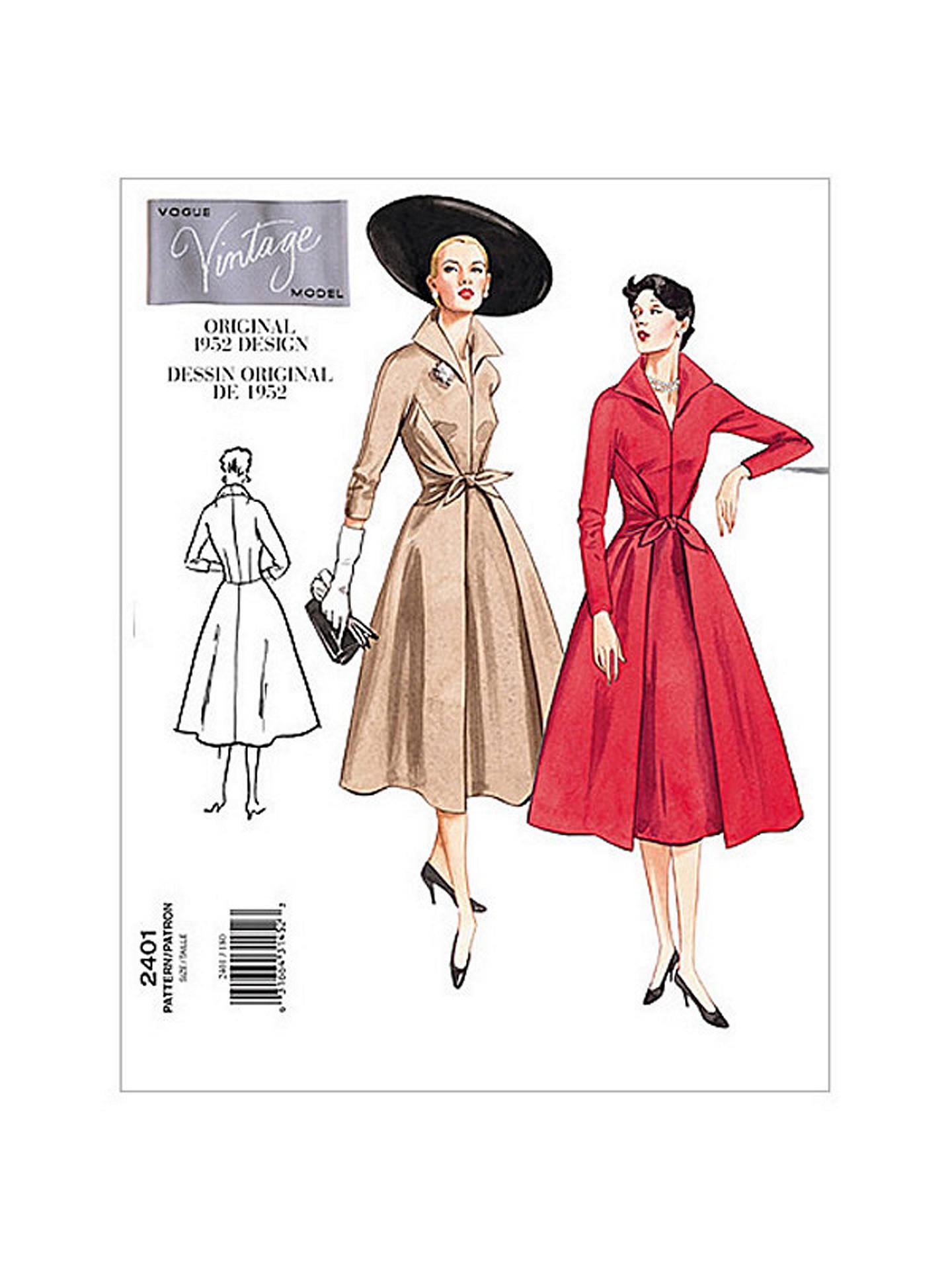 vintage clothing paterns vouge