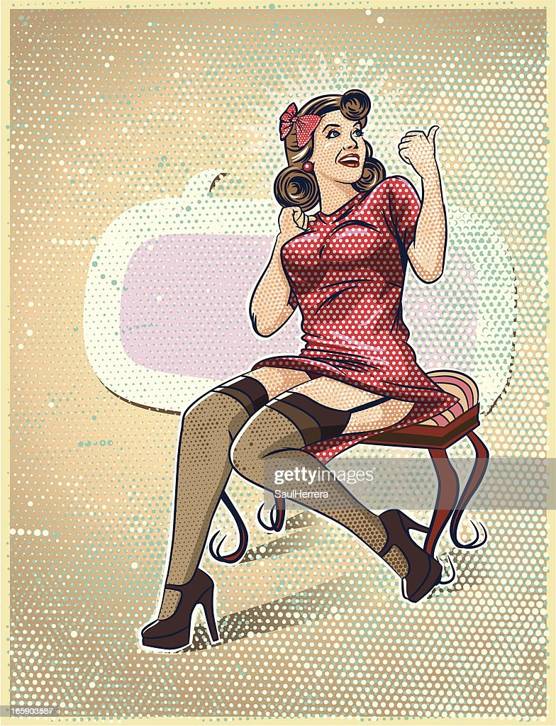 up pin illustrations vintage