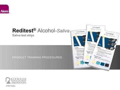 salive alcohol reditest strips test