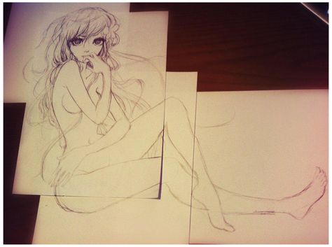 anime girl how draw naked to