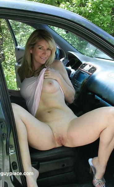 in car milfs flashing