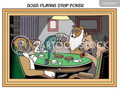 strip poker cartoon
