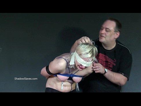 blindfolded blonde fetish