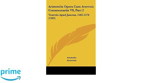 aristotelis opera cum