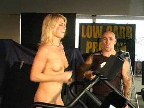 tits treadmill run naked
