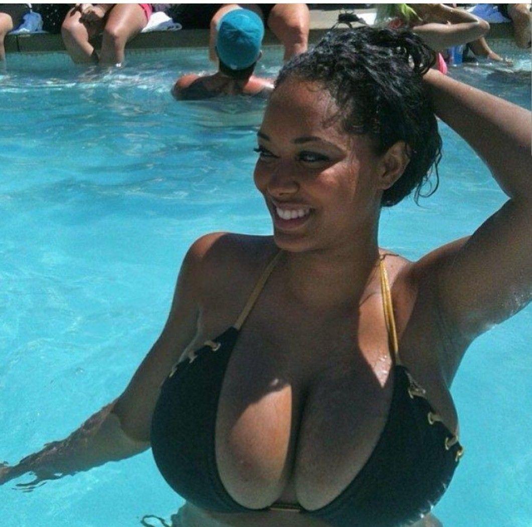 bikini big black tits